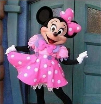 Halloween Minnie Mouse Adult Mascot Costume Party Clothing Fancy Dress Suit NEW