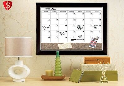 Calendar White Board Magnetic Monthly Planner Office Marker Wall Frame Weekly