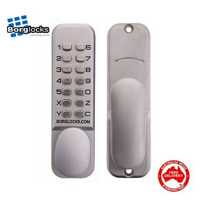 Borg Digital Keyless Storeroom Lock 2000 - Push Button-BL2000SC-Free Post