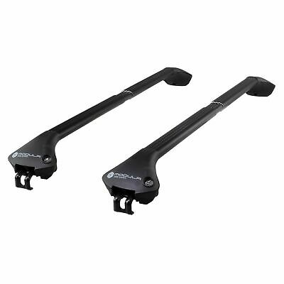 Modula Aluminium Black Roof Bars Audi Q7 06-15 Closed Rails Aero Lockable Pair