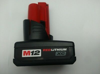 New Milwaukee M12 12V Volt 4Ah Red Li-ion XC Battery Replacement 48-11-2402