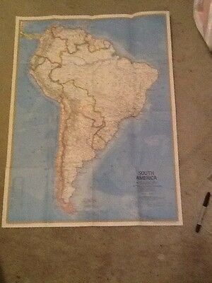 1972 South America National Geographic Map