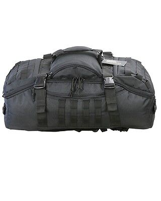 Black Tactical Army Style Operators / Deployment Holdall 60 Litre Duffle Bag