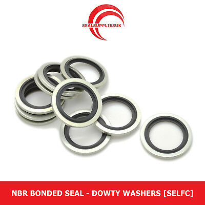 """NBR Bonded Seal - Dowty Washers [Self Centralising] - 1/4"""" BSP"""