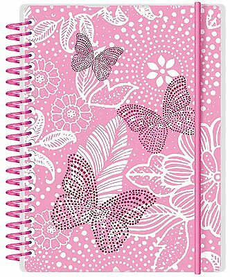 A6 Letts Academic Diary 2017-2018 Butterfly Pink Week to View Weekly Planner