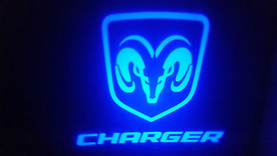 2Pc Blue Charger 5W Led Emblem Door Projector Ghost Shadow Puddle Logo Light