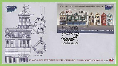 South Africa 1997 Philatelic Exhibition miniature sheet on First Day Cover