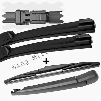 For Vauxhall Astra J 2010-2015 Front and Rear Windscreen Wiper Blades + arm