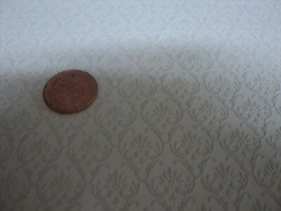 Dollhouse Wallpaper / Cream With Tan /embossed