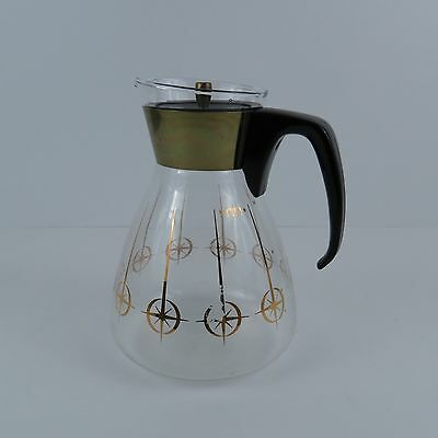 Vintage Retro Pyrex 10 Cup Glass Coffee Carafe Container