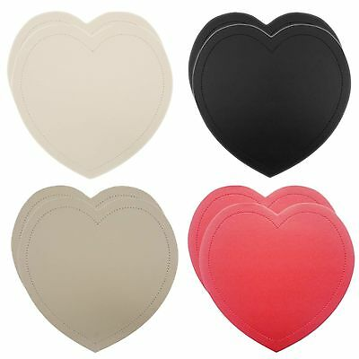Heart Placemats 2 Pack Table Place Setting Dinner Mats Faux Leather New