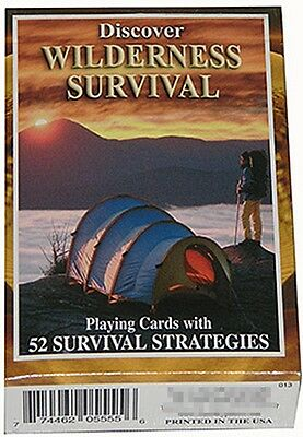Discover Wilderness Survival set of 52 playing cards + Jokers (sts)