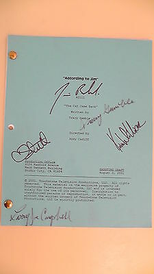 "According To Jim TV Script Show ""The Cat Came Back"" Cast Member Autographed"