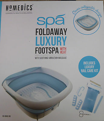 Homedics Foldaway Luxury Footspa with Heat & Soothing Nail Care Kit-FB-350CC-UK