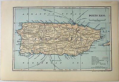 Original 1903 Map of Porto Rico by Dodd Mead & Company