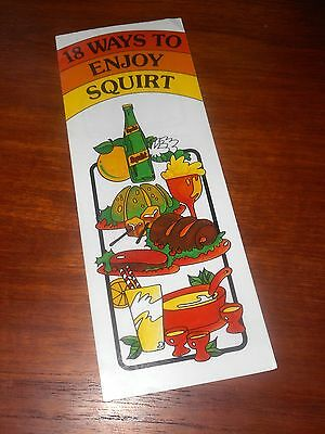 Squirt 1978 18 Ways To Enjoy Squirt Drink & Recipe Booklet