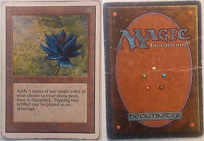 Black Lotus - Unlim - Unlimited - Poor condition - Lotus Noir - Magic mtg -