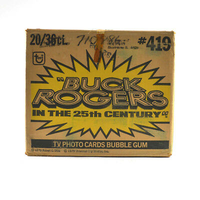 """1979 Topps Buck Rogers """"In the 25th Century"""" Wax Box EMPTY Case #419 721"""