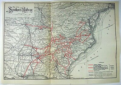 Original 1919 Map of the Southern Railway
