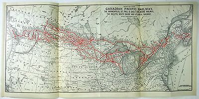 Original 1919 Map of the Canadian Pacific Railway