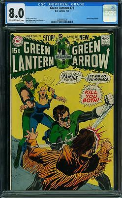 Green Lantern #78 (CGC 8.0 VF) (DC 1970) Black Canary Begins! Neal Adams!