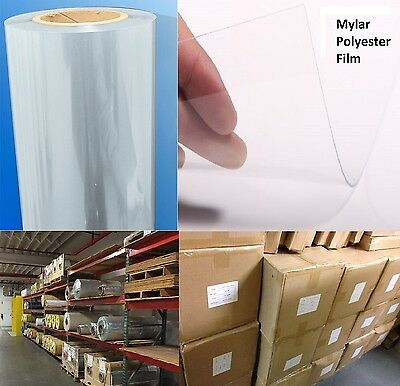 "10mil Gloss Clear Polyester Mylar Printable PET Film .010"" x 24"" x 48"" (25 pcs)"