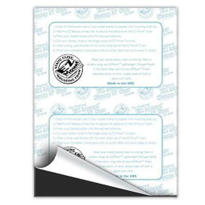 5 Sheets EZ MOUNT Thin Foam Unmounted Rubber Stamps-Static Cling EZThin 8.5 x 11