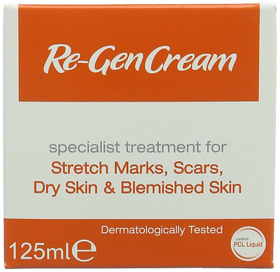 Re-Gen Cream - Treatment for stretch marks, scars, dry skin and blemishes