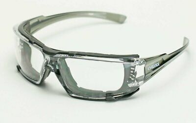Elvex Go Specs IV Safety Glasses, Clear Anti Fog Lens, Foam Lined, Grey Temples