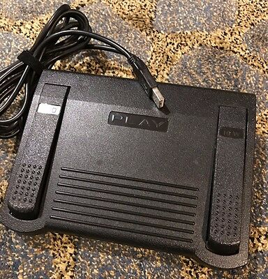Infinity In-Usb-1 Transcription Foot Pedal For Computer - Tested