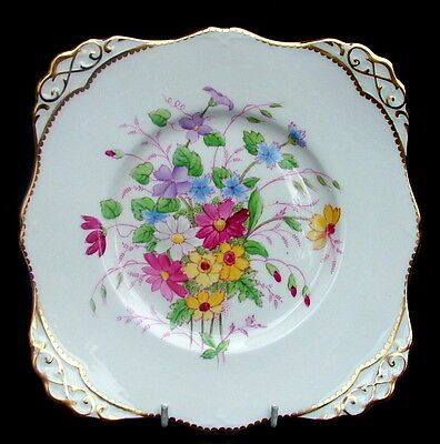 Vintage Tuscan Summer Flowers C8354 Cake Gateau or Sandwich Plate 23cm - in VGC