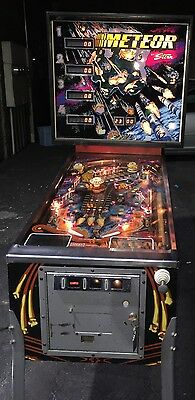 Meteor Pinball Machine By Stern Coin Operated Arcade