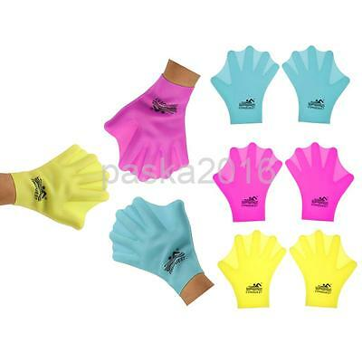 Unisex Adult / Kids Silicone Swimming Webbed Gloves Diving Snorkeling Gloves