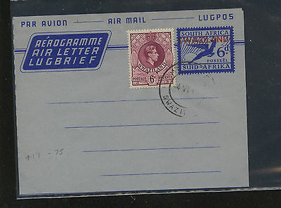 Swaziland  uprated air letter sheet  cancelled               MS0303