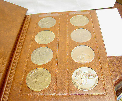 12 Israel State Bronze Medals - In Large Coin Book