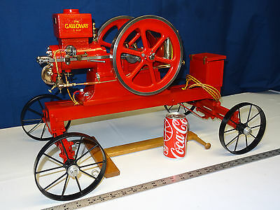 1/4 scale Galloway Hit and Miss gas powered model engine, Video of Running
