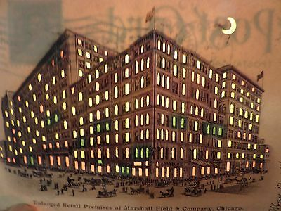 Vintage 1904...... HOLD-TO-LITE..... postcard of Marshall Field department store
