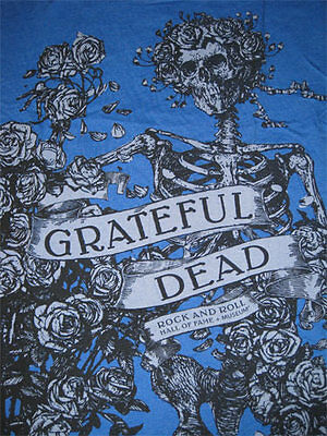 Grateful Dead XXL Rock Roll Hall of Fame Promo Shirt Skull Roses Jerry Garcia