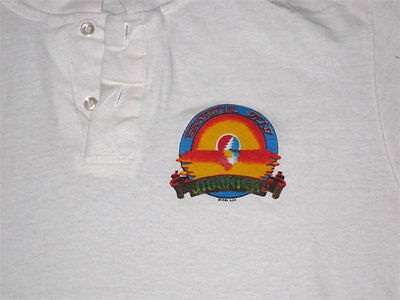 Grateful Dead Jamaica 1982 **RARE** Original Tour Polo Shirt VTG XL Jerry Garcia