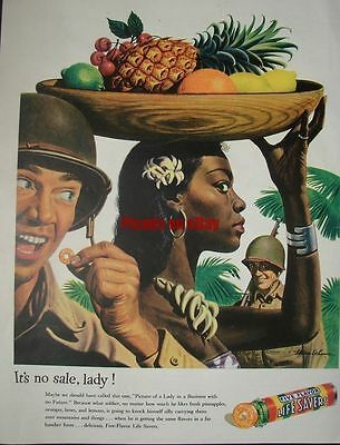 1944 Life Savers Replace Fresh Fruit Natives & Liberty Mutual Little Girl Killed