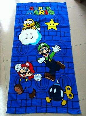 Nintendo Super Mario Beach Towel Bath Towel 100% Cotton 71cm*147cm