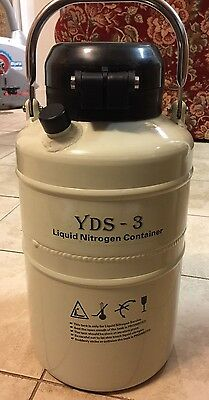 3 L Cryogenic Container Liquid Nitrogen LN2 Tank w/ Straps, Carry Bag & more