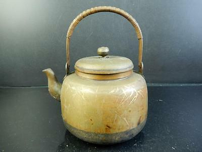 F2904: Japanese Bamboo Flower pattern COPPER BOTTLE Teapot Dobin