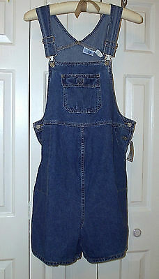 Baby and Me Maternity Overalls Romper Sz M (10-12) Stone Washed Denim NWT