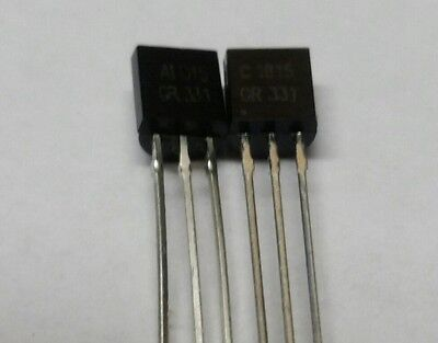 50pcs or 25 pair 2SA1015 PNP and 2SC1815 NPN Low-Frequency LF Amplifier to-92