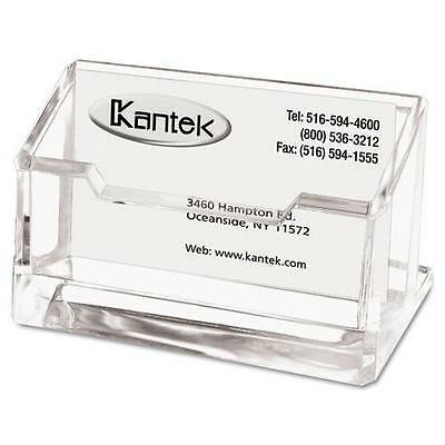 Kantek AD30 Acrylic Business Card Holder, Capacity 80 Cards, Clear