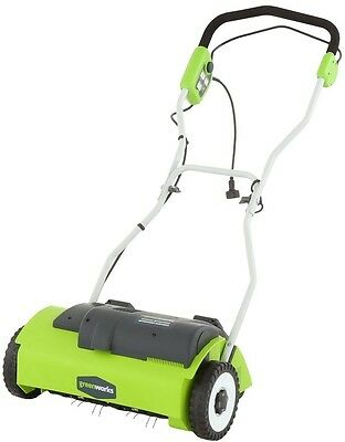 Corded Electric Lawn Dethatcher Grass Yard Thatch Debris Remover Tines Cutter