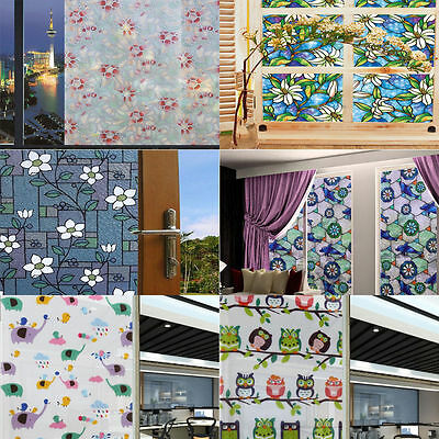 45*100CM Frosted Privacy Home Bathroom Window Glass Static Adhesive Film Sticker
