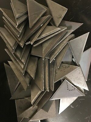 """*Look* 50 - 1/4"""" steel plate weld gusset triangles 2.5"""" x 2.5"""" x .25"""" A36 plate"""