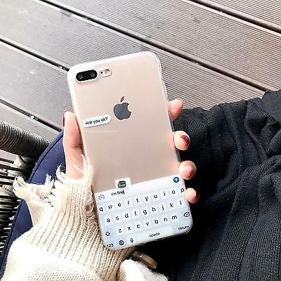 Creative Funny Keyboard Sad Frog Clarity Soft Case For iPhone8 7 7 Plus 6 6SPlus